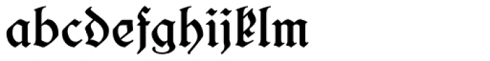 Salzmann Fraktur Medium Font LOWERCASE