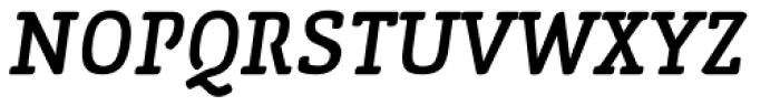 San Jaime Serif Oblique Font UPPERCASE