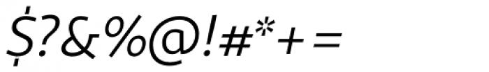 Sana Sans Alt Italic Font OTHER CHARS