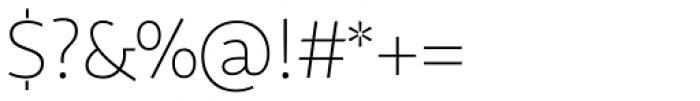 Sana Sans Alt Light Font OTHER CHARS