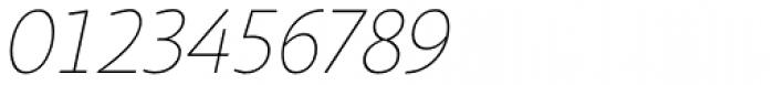 Sana Sans Alt Thin Italic Font OTHER CHARS