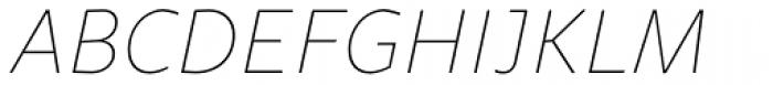 Sana Sans Alt Thin Italic Font UPPERCASE