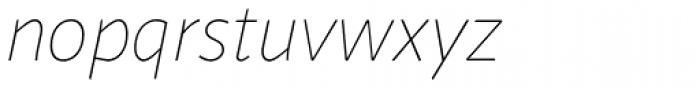 Sana Sans Alt Thin Italic Font LOWERCASE