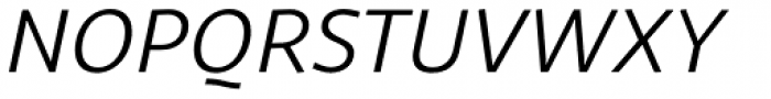 Sana Sans Italic Font UPPERCASE
