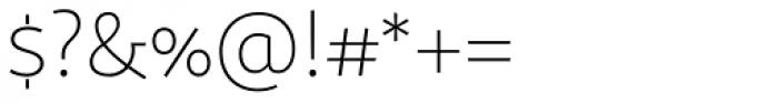 Sana Sans Light Font OTHER CHARS