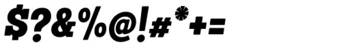 Sanchez Condensed Black Italic Font OTHER CHARS