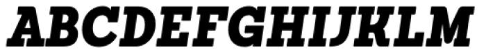 Sanchez Condensed Black Italic Font UPPERCASE