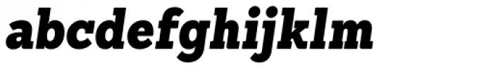 Sanchez Condensed Black Italic Font LOWERCASE