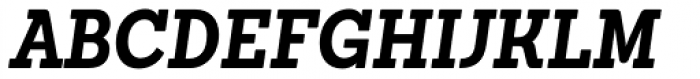 Sanchez Condensed Bold Italic Font UPPERCASE