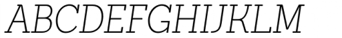 Sanchez Condensed ExtraLight Italic Font UPPERCASE