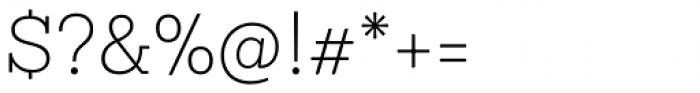 Sanchez Niu Extra Light Font OTHER CHARS