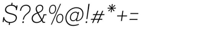 Sanchez Slab ExtraLight Italic Font OTHER CHARS