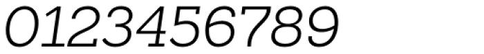 Sanchez Slab Light Italic Font OTHER CHARS