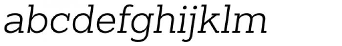 Sanchez Slab Light Italic Font LOWERCASE