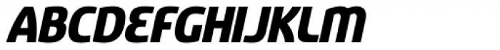 Sancoale Black Italic Font UPPERCASE