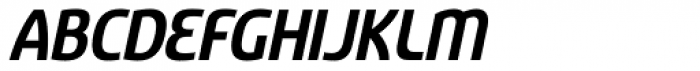 Sancoale Narrow Bold Italic Font UPPERCASE