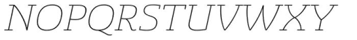 Sancoale Slab Ext Thin Italic Font UPPERCASE