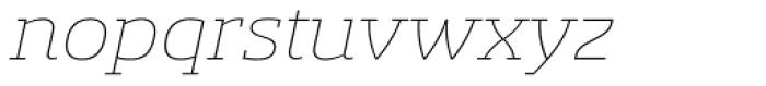 Sancoale Slab Ext Thin Italic Font LOWERCASE