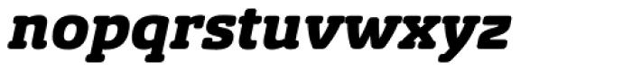 Sancoale Slab Soft Black Italic Font LOWERCASE