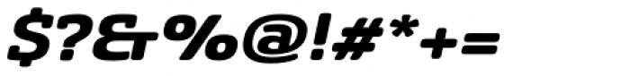 Sancoale Slab Soft Extended Black Italic Font OTHER CHARS
