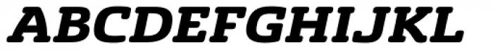 Sancoale Slab Soft Extended Black Italic Font UPPERCASE
