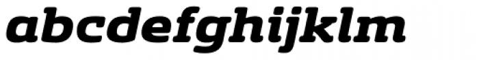 Sancoale Slab Soft Extended Black Italic Font LOWERCASE