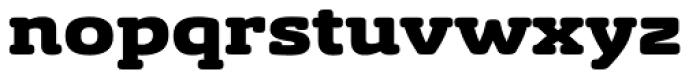 Sancoale Slab Soft Extended Black Font LOWERCASE