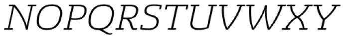Sancoale Slab Soft Extended Light Italic Font UPPERCASE