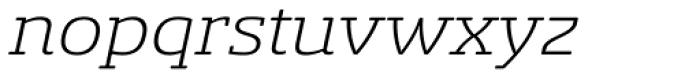 Sancoale Slab Soft Extended Light Italic Font LOWERCASE