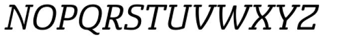 Sancoale Slab Soft Italic Font UPPERCASE