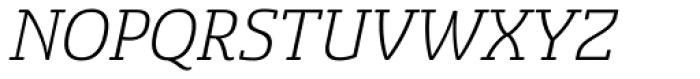 Sancoale Slab Soft Light Italic Font UPPERCASE