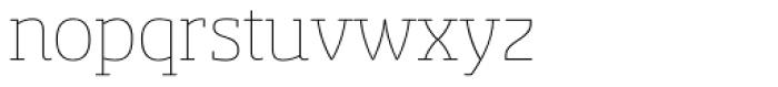 Sancoale Slab Soft Thin Font LOWERCASE
