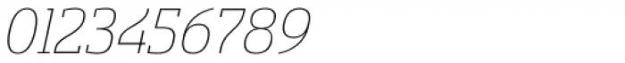 Sancoale Slab Thin Italic Font OTHER CHARS