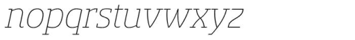 Sancoale Slab Thin Italic Font LOWERCASE