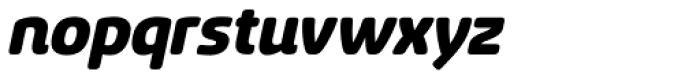 Sancoale Softened Black Italic Font LOWERCASE