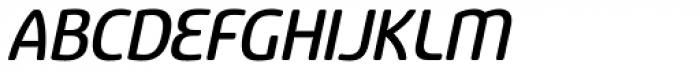 Sancoale Softened Medium Italic Font UPPERCASE