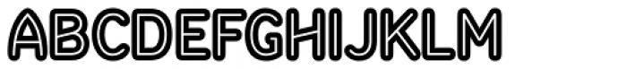 Sandbox Inline Font LOWERCASE