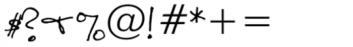 Sandscript BTN Font OTHER CHARS