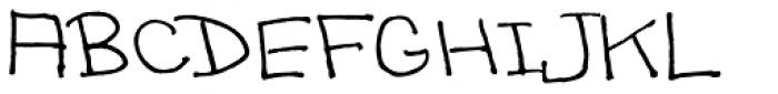Sandscript BTN Font UPPERCASE
