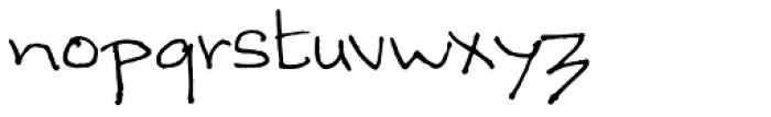 Sandscript BTN Font LOWERCASE