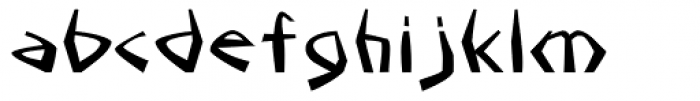 Sangoma Font LOWERCASE