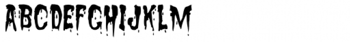 Sanguinary Font LOWERCASE