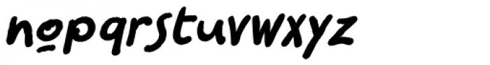 Sanguine Bold Italic Font LOWERCASE