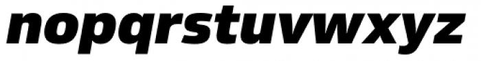 Sans Beam Body Black Italic Font LOWERCASE
