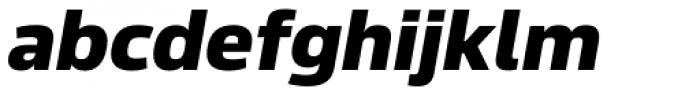 Sans Beam Body Heavy Italic Font LOWERCASE
