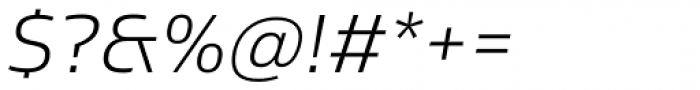 Sans Beam Body Light Italic Font OTHER CHARS