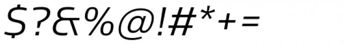 Sans Beam Body Semi Light Italic Font OTHER CHARS