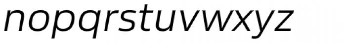 Sans Beam Body Semi Light Italic Font LOWERCASE