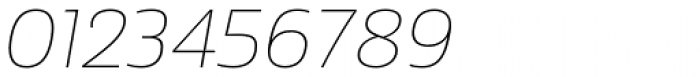 Sans Beam Body Thin Italic Font OTHER CHARS