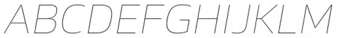 Sans Beam Body Ultra Light Italic Font UPPERCASE